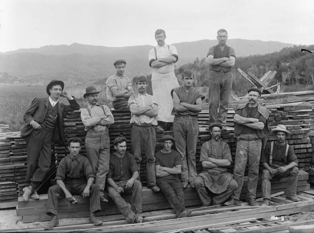 Workers at Prouse and Saunders Sawmill